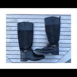 Tory Burch Black Simone 35mm Riding Boot size 10